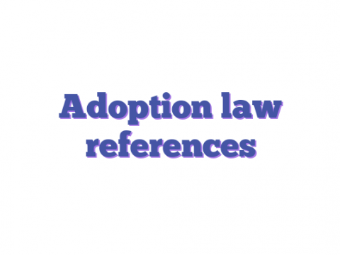 Adoption law references