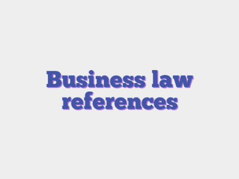 Business law references
