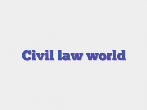 Civil law world